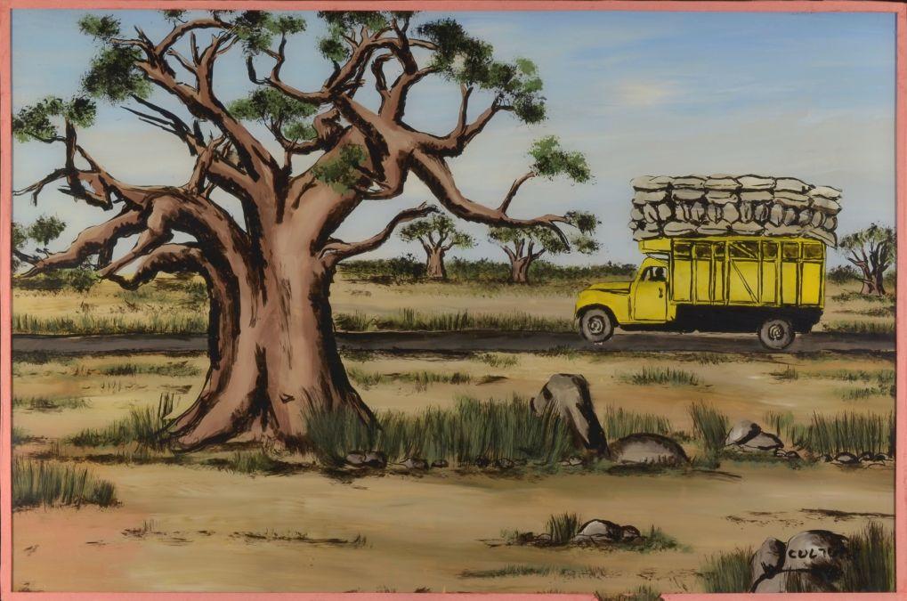 Africart Kunstgalerie Afrikanische Hinterglasmalerei